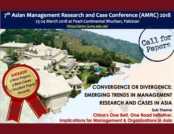 Call for Papers: 7th Asian Management Research and Case Conference (AMRC) at PC Bhurban
