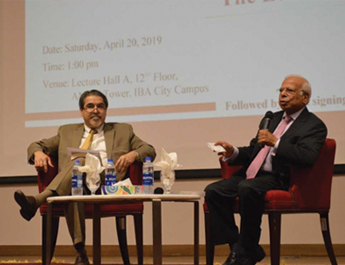 Apr 20, 2019: Distinguished Lecture Series on 'The Economy of Modern Sindh' by Dr. Ishrat Husain