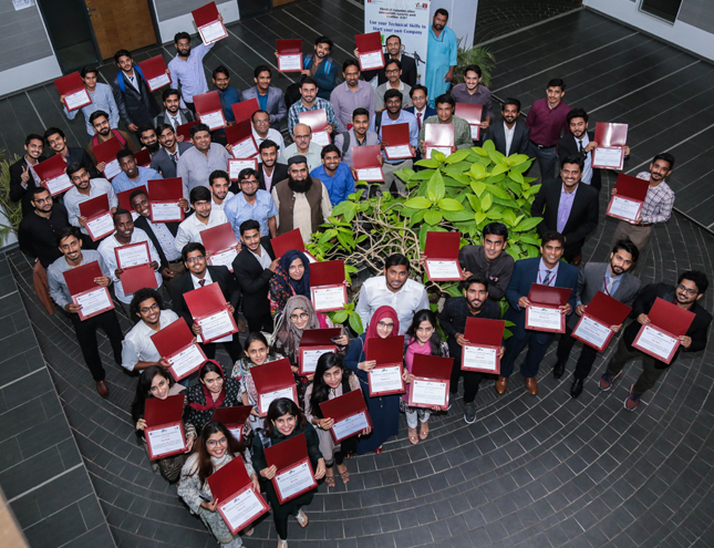 Graduation Ceremony of IBA CED Science & Technology Entrepreneurship Program (STEP) Fall 2018 batch