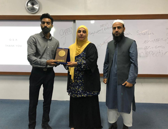 April 29, 2019: Guest Speaker Session at Iqra University