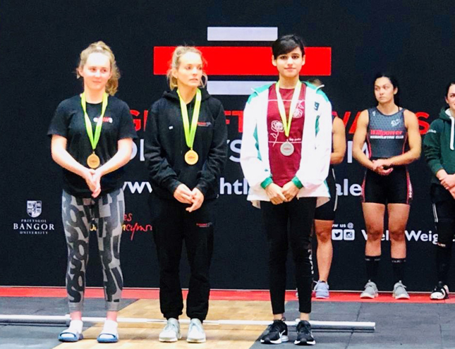 IBA student wins Gold and Silver medals in Weightlifting Championships, UK