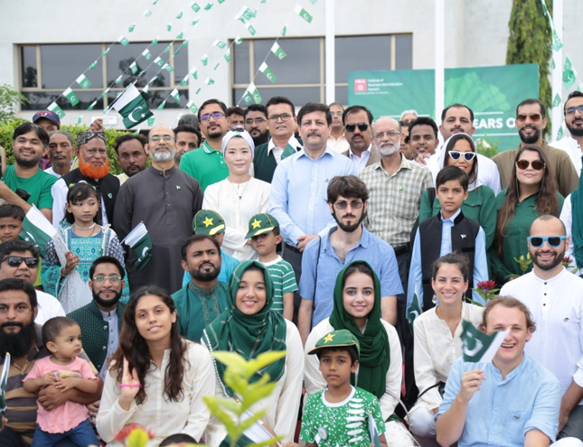 Independence Day celebrations at the IBA Karachi