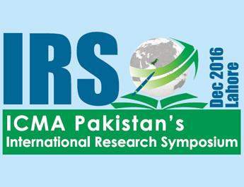 International Research Symposium (IRS) 13th December 2016 at PC Hotel Lahore, Pakistan