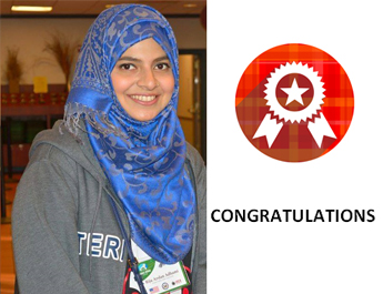 Congratulations to Rija Arslan Adhami selected in the Global Undergraduate USA Program