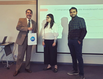 Oct 1, 2019: ED Dr. Farrukh Iqbal delivered a talk on macro-economic trends in Pakistan