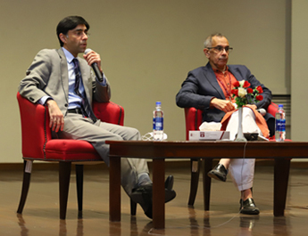 SAPM Dr. Moeed Yusuf discusses Pakistan's narrative on national security at IBA Karachi