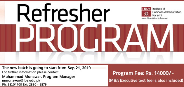 MBA Executive Refresher Program