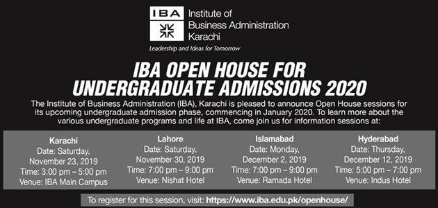 IBA Open House for Admissions 2020