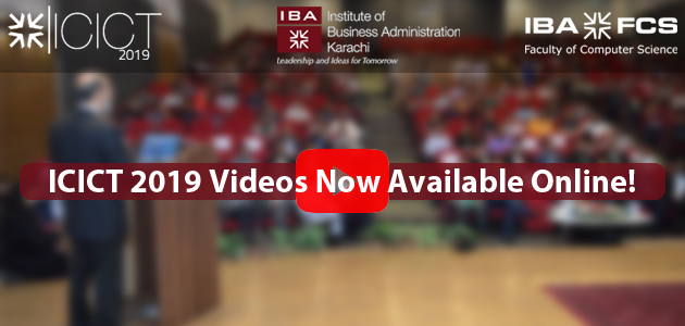 ICICT 2019 Videos Now Available Online!